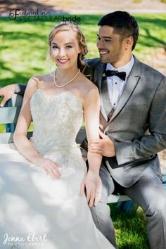 Opting for a gray suit with a crisp black trim is classic with edge for any Groom. This look from Friar Tux Shop -Las Vegas was a stylish win for our 2017 Spectacular Bride Photo Shoot.   For more fashion trends visit www.spectacularbride.com  Photo by Jenna Ebert Photography