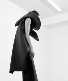 Sculptural Fashion with a bold 3D silhouette; dark fashion photography // Qiu Hao