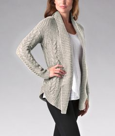 Pull this Denver Hayes open-front cardigan over your blouse or T-shirt to fight off the winter chills.   Mark's Work Wearhouse, Yorkton