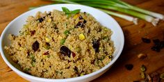 Quinoa recipe with pistachios and dried cherries! What an amazing side dish for Christmas dinner!