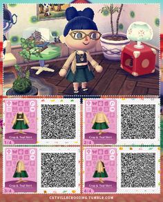 animal crossing new leaf qr code Animal Crossing Memes, Animal Crossing Qr Codes Clothes, Oktoberfest Outfit, Winter Looks, Rosa Pullover, Motif Acnl, Ac New Leaf, Motifs Animal, Happy Home Designer