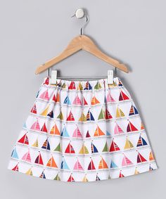 Take a look at this White Sailboat Skirt - Infant, Toddler & Girls by Dapple Gray Designs on #zulily today!