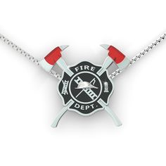 Wear the fire shield of your loved one over your heart. Fire Shield Necklace in lustrous sterling silver.