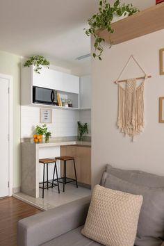 Living Pequeños, Living Room Decor, Bedroom Decor, Dining Room, Mini Loft, Dream Apartment, Decoration, Room Inspiration, Larp