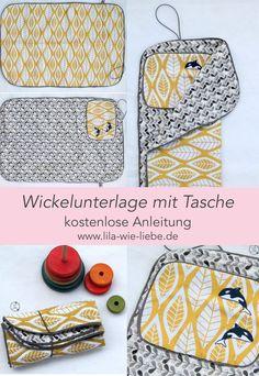 874705e9c03b1 Wickelunterlage mit Tasche - Gratis Nähanleitung - Freebook