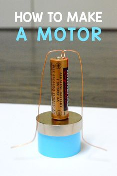 How To Make A Motor | Electricity And Magnetism Cool Experiment. Build a simple motor using magnet and battery.
