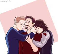 JUST STOP FIGHTING AND HUG IT OUT, BOYS. Also, y'all need to stop arguing over stony or stucky because why not both >_>