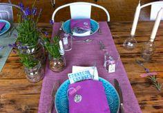 Tischdeko mit Lavendel