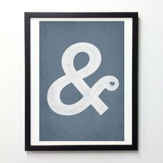 Ampersand with love, typography poster - Vintage-Style lettering print - A3. $16.00, via Etsy.