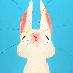 rabbit illustration - Love Home Decor Rabbit Art, Rabbit Nose, Bunny Rabbit, Bunny Art, Art And Illustration, Rabbit Illustration, Art Design, Art Lessons, Illustrators