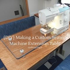 Making a Custom Sewing Machine Extension Table {Tutorial} – Quilting Jetgirl