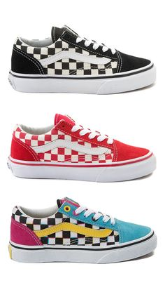 ab6b3130852 Youth Vans Old Skool Chex Skate Shoe