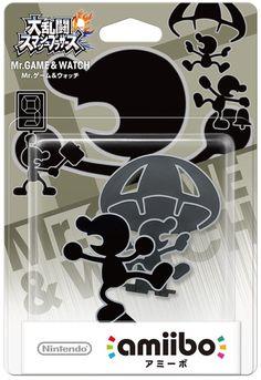 Nintendo amiibo Super Smash Bros. Mr. Game Watch 3DS Wii U Figure from Japan F/S #Nintendo