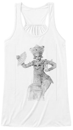 Legong Dancer White Women's Tank Top Front