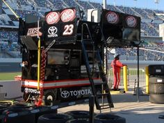 2016 Sprint Cup Series pit boxes Wednesday, March 9, 2016 No. 23 David Ragan