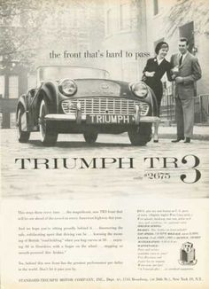 American Triumph TR3 advert courtesy of vintageadbrowser.com
