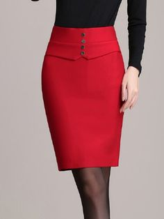 Affordable Women S Fashion Online Key: 9879212267 Pencil Skirt Outfits, High Waisted Pencil Skirt, Midi Skirt Casual, Office Outfits Women, Latest African Fashion Dresses, Couture Dresses, Simple Dresses, Short, Dress Skirt