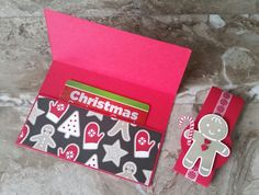 Stampin' Up! Demonstrator stampwithpeg – Christmas Craft Fair makes : Gift Card Holder / Money Wallet. Candy Cane Lane & Cookie Cutter Christmas. On Monday I shared with you all my Gift card ho…