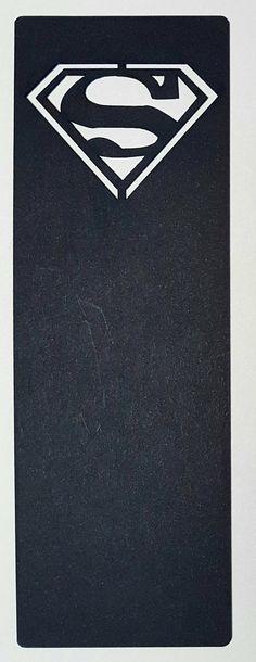 Superman lasercut bookmark black