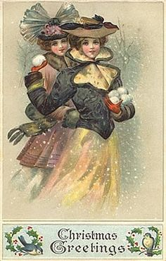 Vintage christmas ladies
