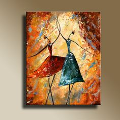 Original acrylic painting of Ballet Dancing Wall by EditVorosArt, $60.00