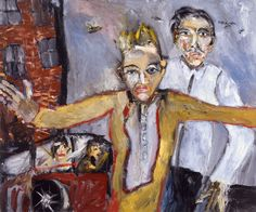"""oil on canvas 2005 (private collection) """"Michael Hafftka, has a way with paint, and he can pace his sometimes very large paint. Neo Expressionism, Art Database, True Art, Large Painting, Figurative Art, Oil On Canvas, My Favorite Things, Abstract, Art Paintings"""