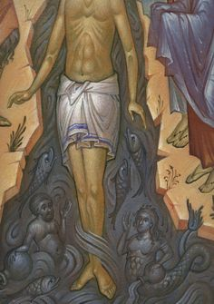 Baptism Of Christ, Life Of Christ, Byzantine Icons, Lord, Painting, Detail, Animaux, Painting Art, Lorde