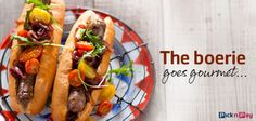 The boerie's star is on the rise with top chefs endorsing its gourmet status! Recipe Search, Food Trends, Finger Foods, Baking Recipes, Delicious Desserts, Rolls, Fresh, Dinner, Cooking