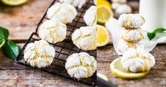 "Lemon Crinkle Cookies – Cookie Friday with ""Das Küchengeflüster"""
