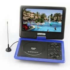 7.5-15 TFT Portable DVD Player LCD Screen Display USB TV MP3 MP4 Game SD MMC MS (9.5 inch, blue) Support RMVB format video* 270-degree rotating LCD screen, multi-angle viewing. Classic game features. The Internal sd mmcms one card reader. Super-compatible disc dvd vcd mp3 MP4, etc.. Built-in dual stereo speakers.  #Bravolink #Home_Theater