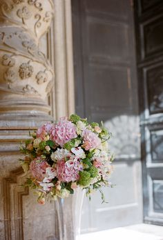 Pink Flower Wedding Ceremony Decor