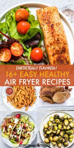 Looking for Healthy Air Fryer Recipes that are tasty and quick and easy to make? Each of the air fryer recipes in this collection are under 425 kcal, with most less than 350 kcal! But you'd never know it, since these easy air fryer recipes are SO deliciou Air Fryer Oven Recipes, Air Frier Recipes, Air Fryer Dinner Recipes, Recipes For Airfryer, Actifry Recipes, Ww Recipes, Lunch Recipes, Cooking Recipes, Healthy Recipes