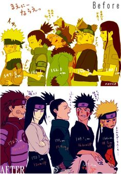 Hey Shikamaru! Too bad your pineapple top doesn't count or you'd be taller than Chouji