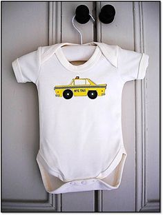 onesie new york baby bodysuit 03 mths cute by byebyebirdieengland, $17.00
