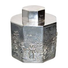 English Sterling Silver Tea Caddy Chester 1912