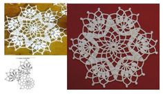 Crochet Snowflake Pattern, Crochet Snowflakes, Charts, Patterns, Rugs, Decor, Crochet Doilies, Drive Way, Amigurumi