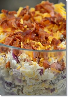 Loaded Baked Potato Salad. This isn't healthy but it sure looks good.