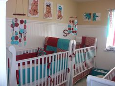 Red and Turquoise Nursery