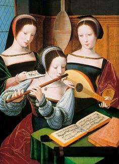 Unknown (Master of the Female Half-Length Portraits). Three Ladies Making Music 1530-60