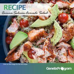 quinoa avocado salmon salad RECIPE genetix program