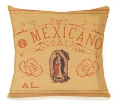 Mexican Latina Pillow  VIRGIN DE GUADALUPE  Vintage by arribachica, $37.00