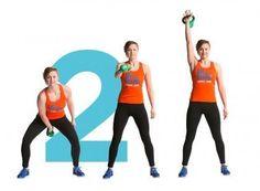 Näillä liikkeillä voimasi kasvaa nopeammin kuin arvaatkaan.Kahvakuulailu on hyvä esimerkki trendikkäästä toiminnallisesta harjoittelusta, jossa yhdellä liikkeellä treenataan mahdollisimman monta lihasryhmää. Tikkulaihuus ei ole muotia, vaan terveet muskelit. Toista jokaista liikettä minuutin ajan... Keeping Healthy, Kettlebell, Excercise, Happy Life, Maternity, Health Fitness, Workout, Sports, Stretching