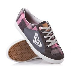 Roxy Shoes - Roxy Sneaky II Shoes - Grey and Pink