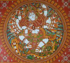 Naveen at Work: Nataraja, Mahaganapathi Vattom Temple, Sultan Bathery, Wynad. – Mural Paintings of Kerala Indian Traditional Paintings, Indian Paintings, Traditional Art, Mural Wall Art, Murals, Kerala Mural Painting, Ganesha Painting, Ganesha Art, Nataraja