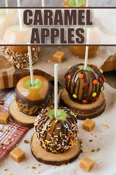 Homemade Caramel Apples are the ultimate fall treat! Let me show you how easy it is to make gourmet Caramel Apples every one will love! #apples #fall #halloween #easyrecipes #dessert #caramelapples #caramel Gourmet Caramel Apples, Desserts Caramel, Caramel Apple Recipes, Health Desserts, Holiday Desserts, Halloween Celebration, Halloween Party, Fall Halloween, Happy Halloween