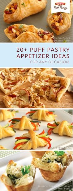 Every party should start out with one of these crowd-favorite appetizer recipes. Use Pepperidge Farm® Puff Pastry Sheets to create bite-sized dishes like Spinach, Crab, and Artichoke Mini Tarts or Wild Mushroom and Baby Arugula Bruschetta.