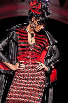 Attention to detail Joan Smalls for Jean-Paul Gaultier SS/2012 Haute Couture.