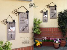 "Key holders. Cross Stitch and Blackwork Designs: ""Welcome to our Home"" by Valentina Sardu - Ajisai Press"