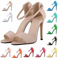 HooH Women's Elegance Matte Buckle Dress Pump Stiletto Peeptoe Sandals - http://on-line-kaufen.de/hooh/hooh-womens-elegance-matte-buckle-dress-pump