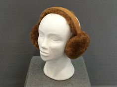 SheepSkin Earmuff Brown
